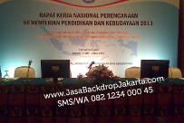 Backdrop Event Rakernas Kemendikbud