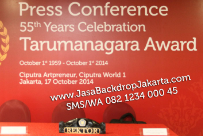 Backdrop Press Confrence Tarumanagara Award