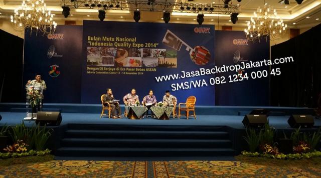 Tempat dan Jasa Pembuatan Backdrop Seminar di Bekasi
