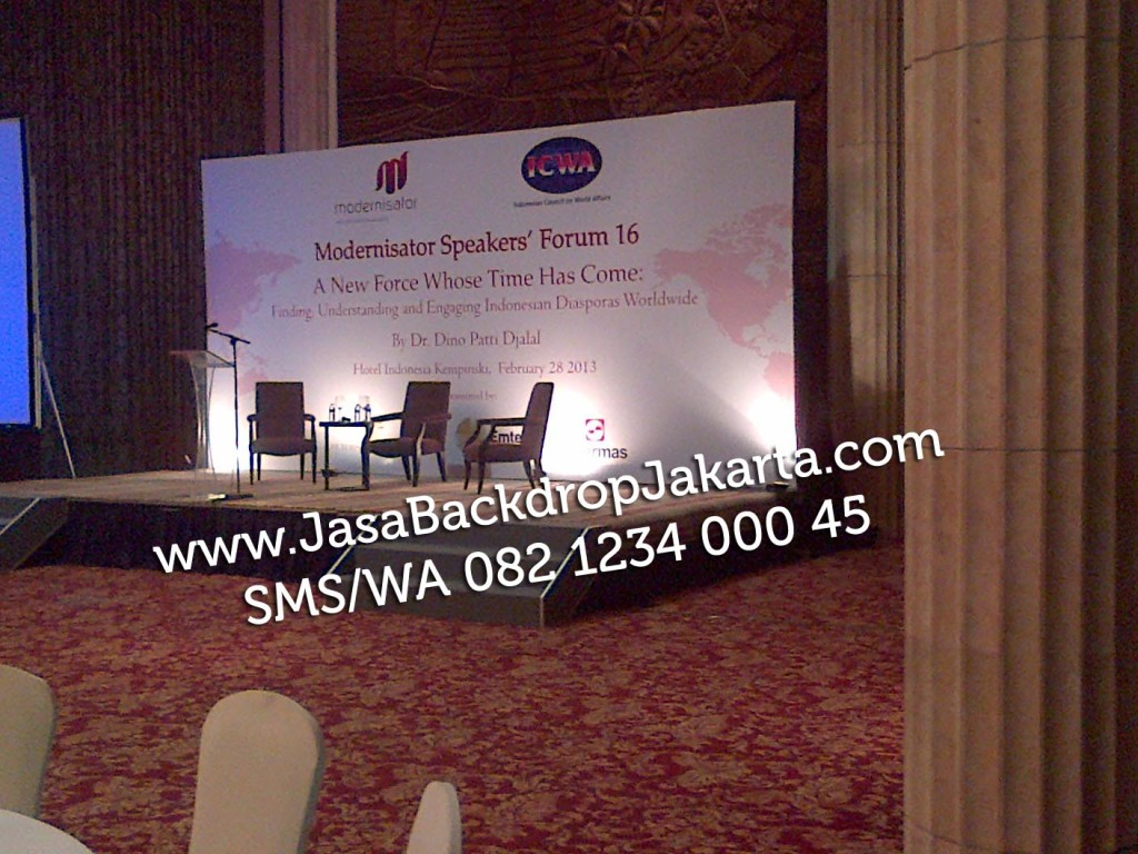 Tempat dan Jasa Pembuatan Backdrop Seminar di Jakarta Utara