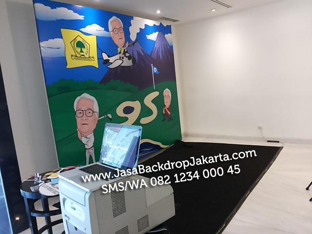 Jasa Pembuatan Backdrop Ulang tahun di Jakarta Barat