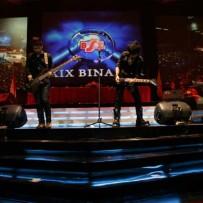 Backdrop Wisuda BSI di Tennis Indoor Senayan